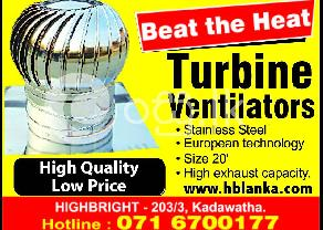 Ventilators srilanka  Turbo ventilators  roof ventilators srilanka   Wind turbin in Kadawatha