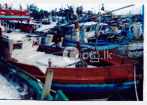 Boat in Hikkaduwa in Ambalangoda