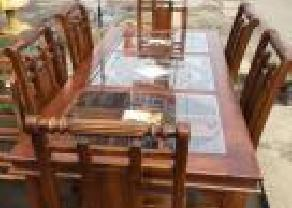 Teak Dinning Table Chairs (DT05) in Kaduwela