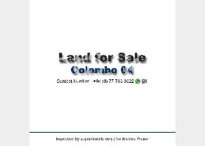 Land for Sale in Colombo 04 in Colombo 4