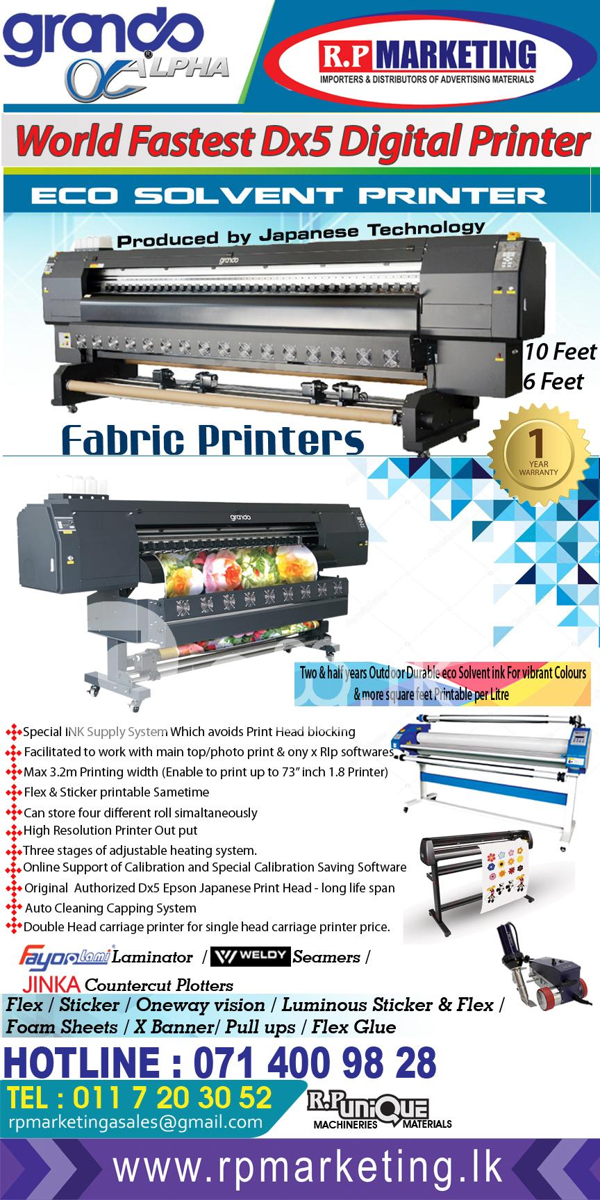Digital Print Machine 10 6 5 Feet  in Ratmalana