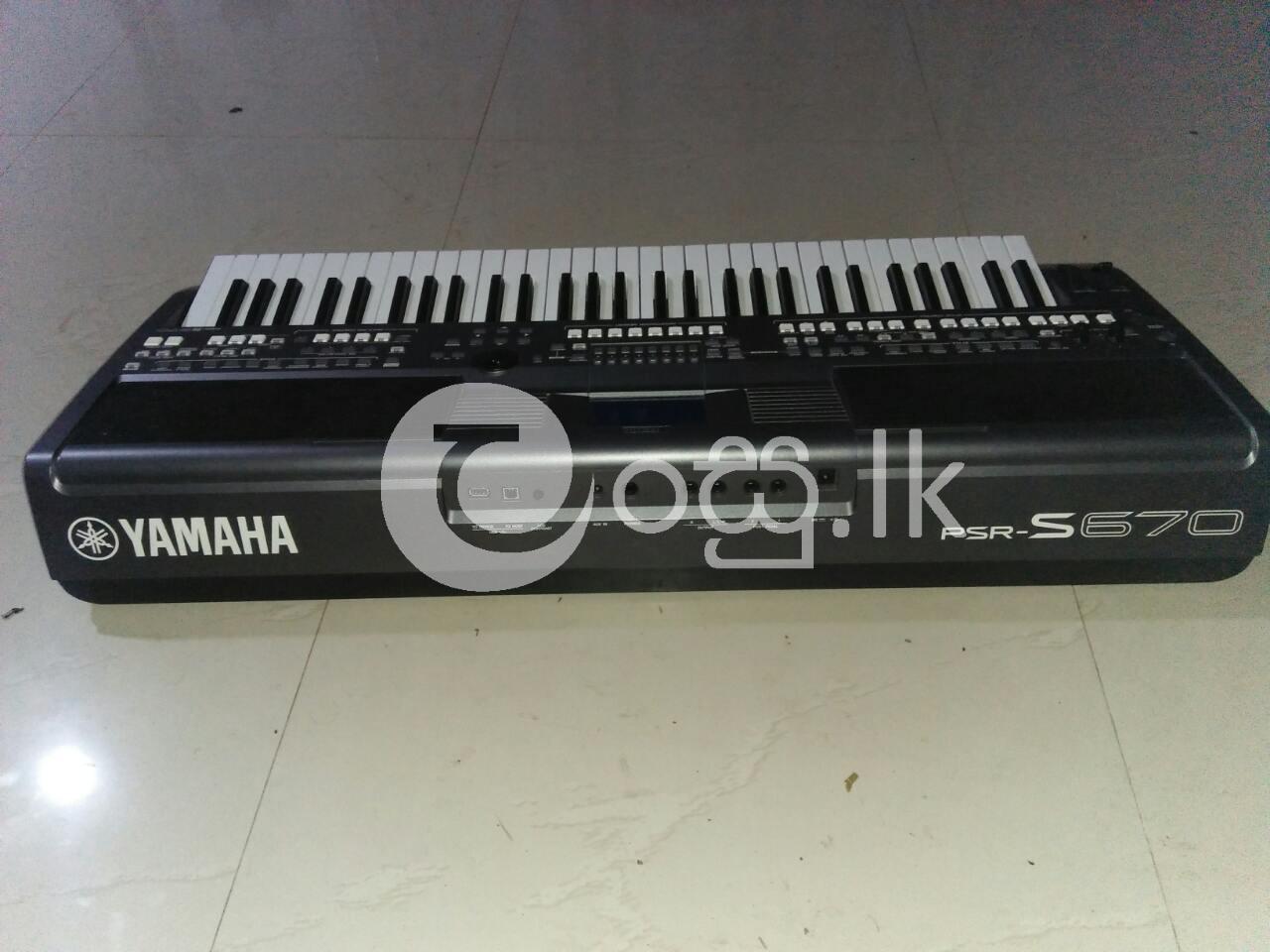 Yamaha PSRS 670 Keyboard Musical Instruments in Ambalangoda