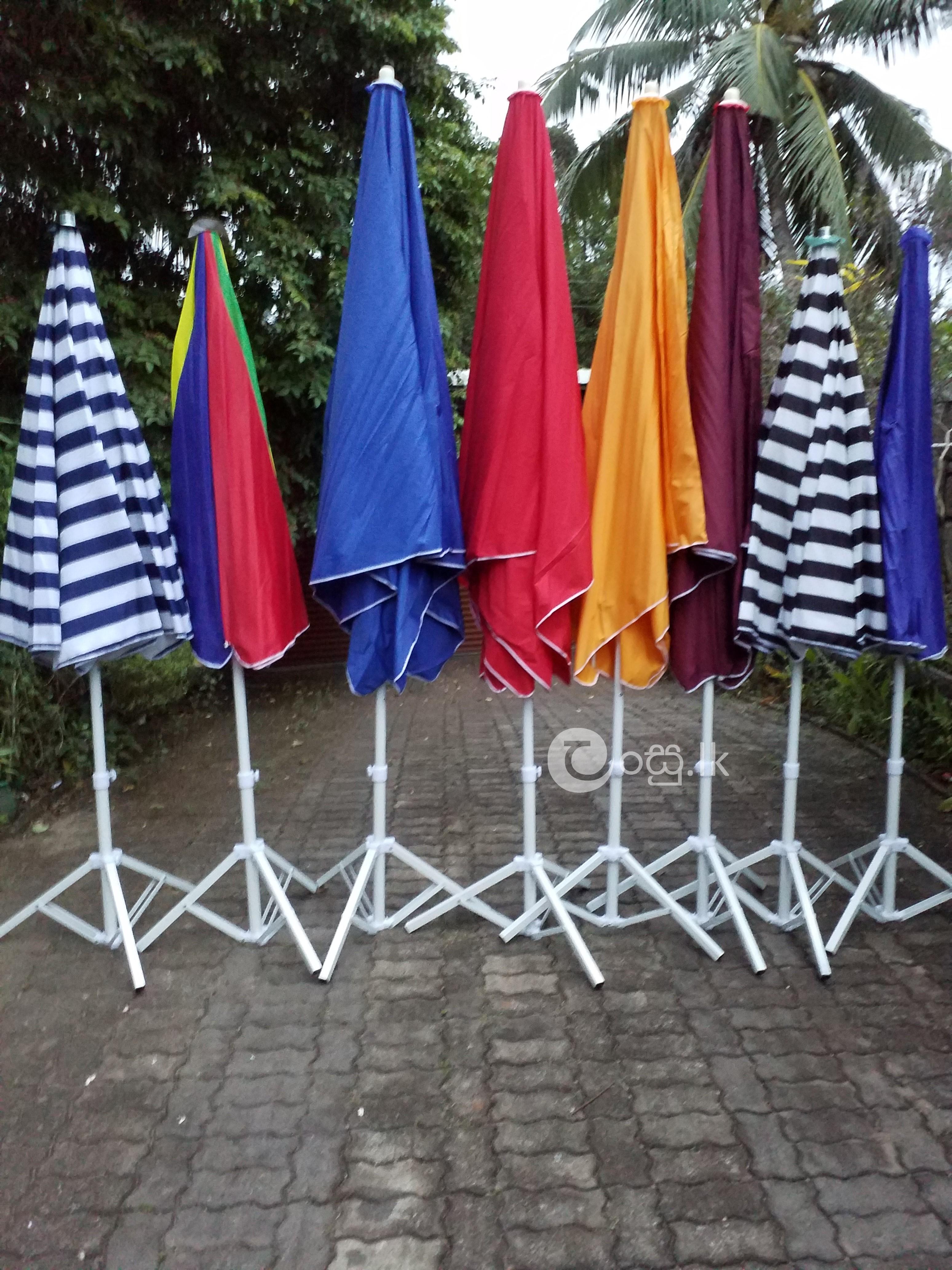"Beach Umbrella & Garden Umbrella with Powder Coated Frames (48""x48""X84'') Garden in Padukka"