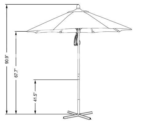 umbrella Outdoor Garden Crank Alum. Market  Garden in Padukka