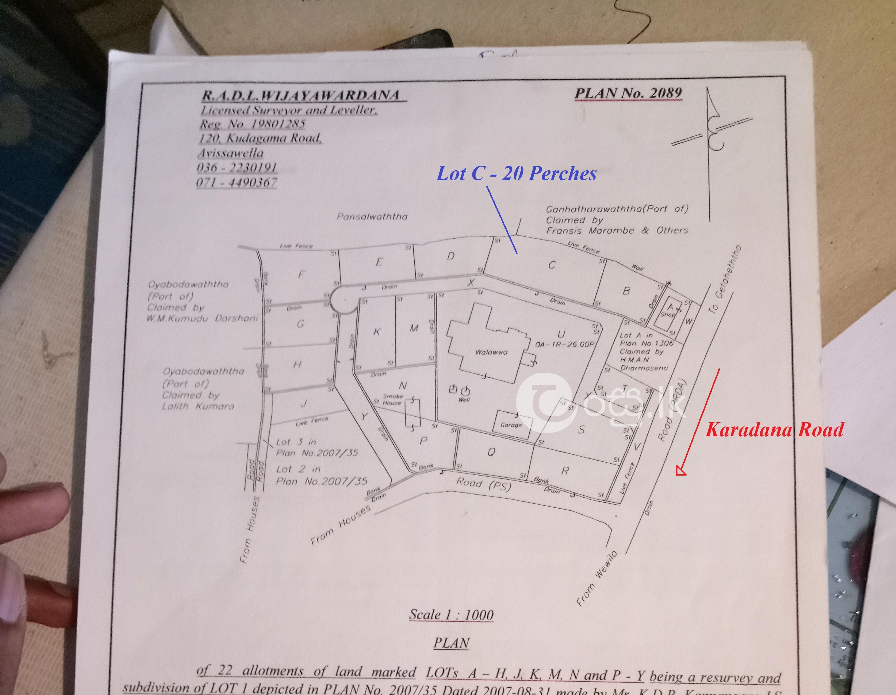 Land for Sale in Getaheththa  Marambe Town Land in Eheliyagoda